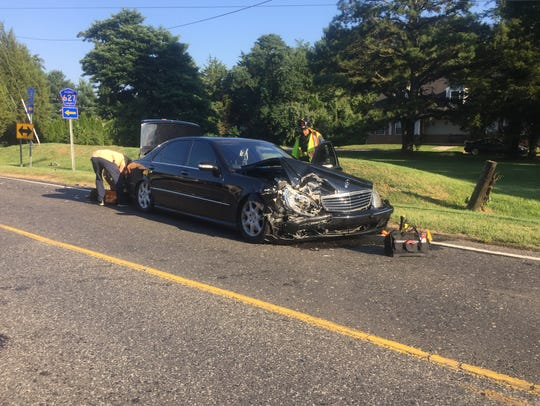 NJ State Police are investigating a two-vehicle crash