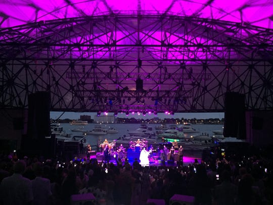 Diana Ross and band at Chene Park in Detroit on Saturday,