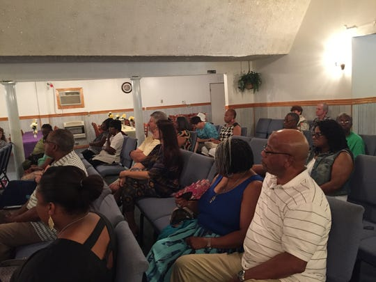 A small crowd attended an open forum with local law enforcement officers held at Foundation of Faith Ministries in Belle Haven, Va on Friday, July 22, 2016.