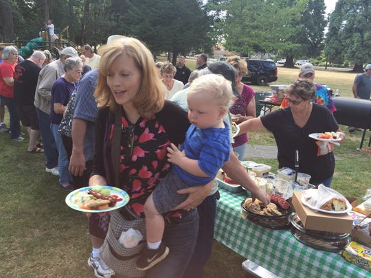 """An event for all ages. Sublimity's Church Park hosts National Night Out coupled with First Tuesday, creating one of the largest """"block parties"""" in the Willamette Valley."""