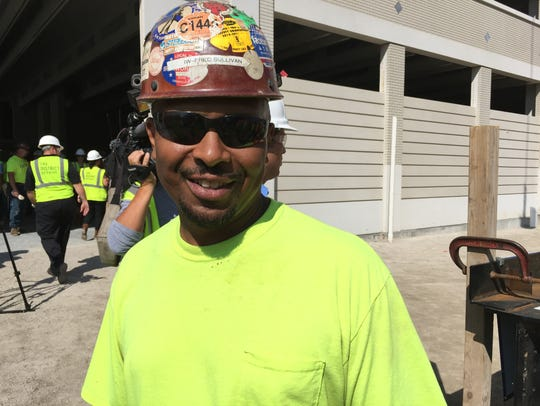 Fred Sullivan, a member of Ironworkers Local 25, at