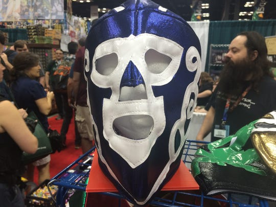 This Mexican wrestling mask is sold by Spartacus Publishing at GenCon.
