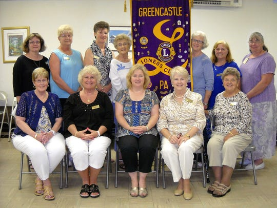 Recently installed 2016-17 officers of Greencastle-Antrim