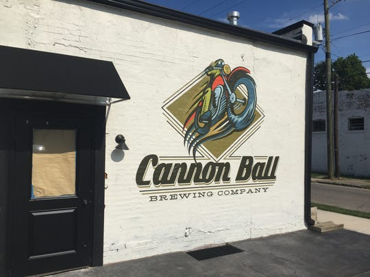 The entrance of Cannon Ball Brewing Company, opening soon at 1702 Bellefontaine St.