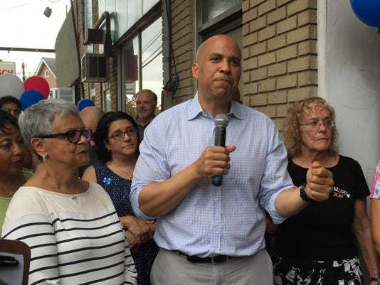 Cory Booker in Somerville