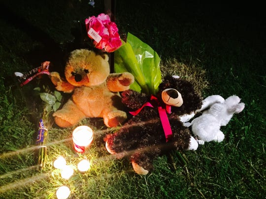 A candlelight vigil was held for Timea Lashay Batts on Monday night after the 11-year-old was shot and killed in Hendersonville.