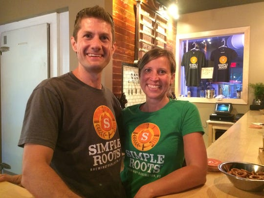 Dan Ukolowicz and Kara Pawlusiak at Simple Roots Brewing