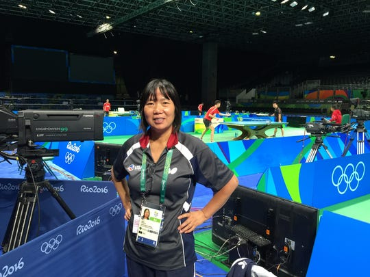 Lily Yip, coach of the U.S. table tennis team, owns a table tennis center in Dunellen.