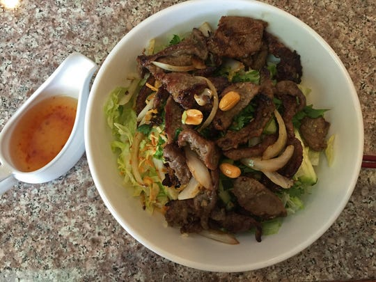 Lemon Grass Beef Vermicelli with a special spice sauce