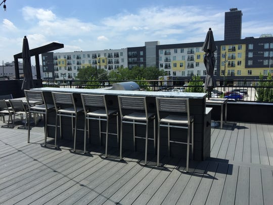 The 1,360-square-foot rooftop terrace on TrendyMind's building at 531 E. Market St. is for employee-use only.