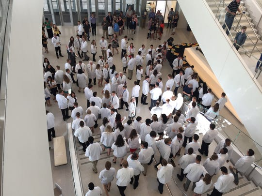 First-year students in the Carver College of Medicine