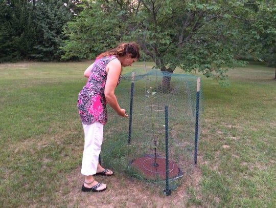 A growing apple tree reminds Unadilla Township Trustee