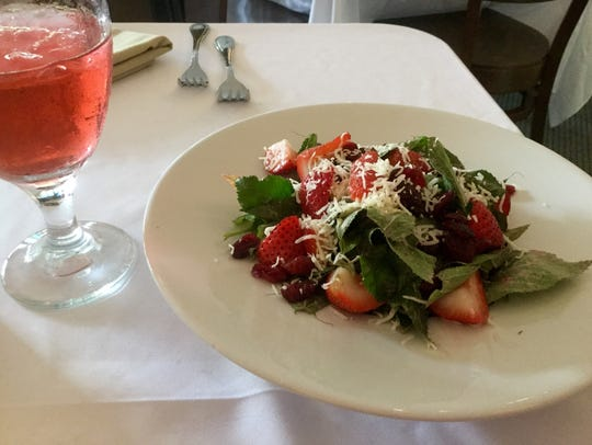 Shangri-La Springs' strawberry-and-spinach salad