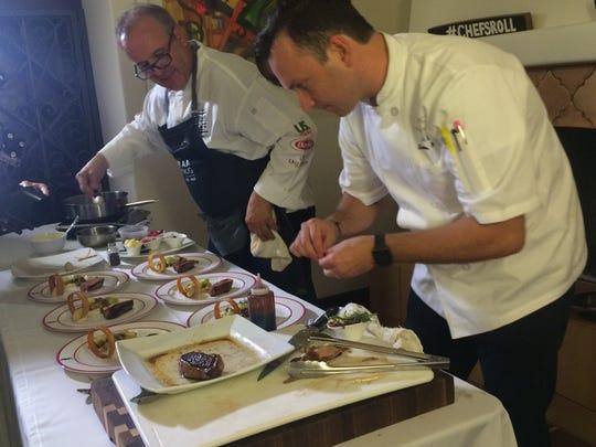 Parker Palm Springs executive chef Herve Glin, on left,