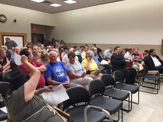 More than 100 people packed Wappinger Town Hall Monday