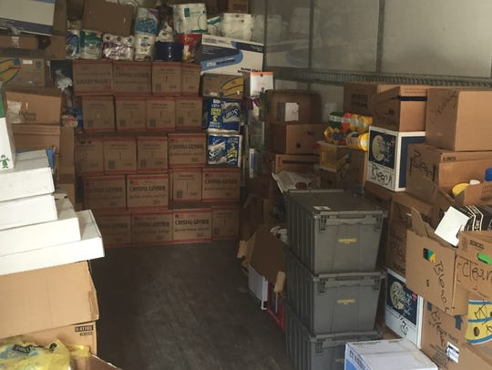 Donations were loaded into South Alabama's football