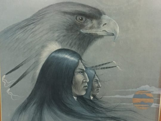 A painting inside the  Adai Caddo Indian Nation Cultural Center in Robeline.
