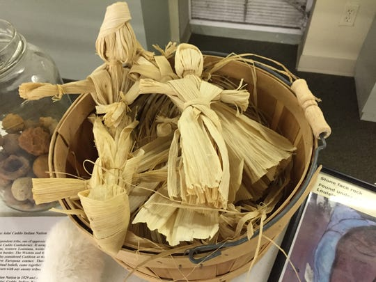 Corn husk dolls inside  Adai Caddo Indian Nation Cultural Center in Robeline.