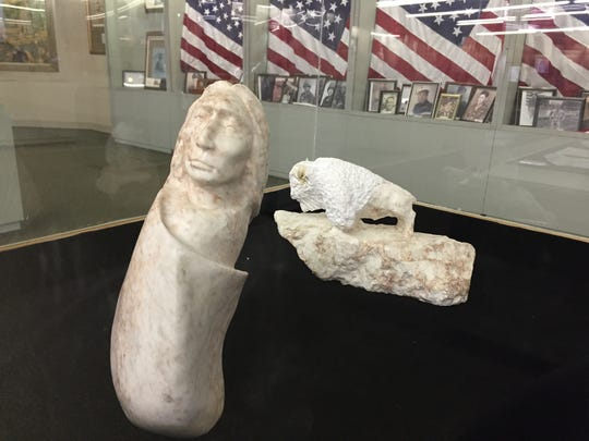 Artifacts on display at  Adai Caddo Indian Nation Cultural Center in Robeline.