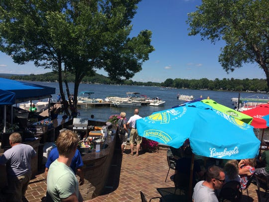 A view from the newly remodeled patio at Fitz's on