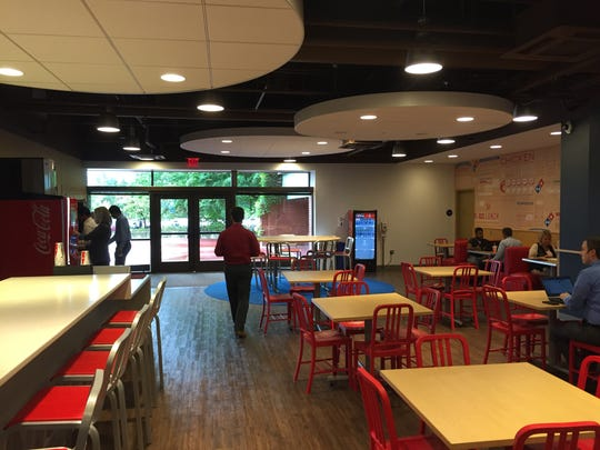 Employee dining and meeting area at Domino's Pizza headquarters in Ann Arbor, Mich. in August 2016.