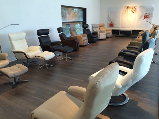 The new Scan Design store in south Fort Myers features a recliner gallery.