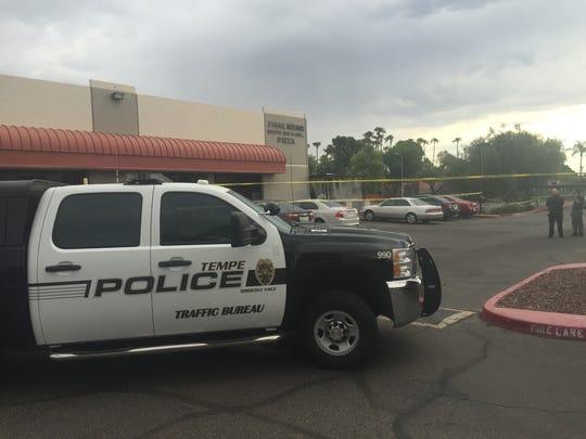 Tempe police investigators were at the scene the morning