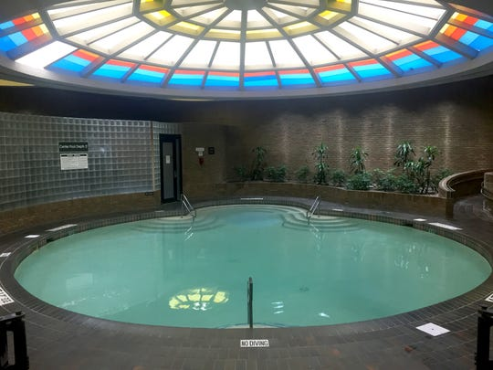 The indoor pool at the Edward hotel, formerly the Hyatt Regency, in Dearborn. Photographed August 17, 2016.