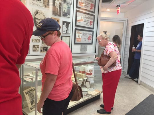 Visitors to the KFC museum in Corbin, Ky. August 12,