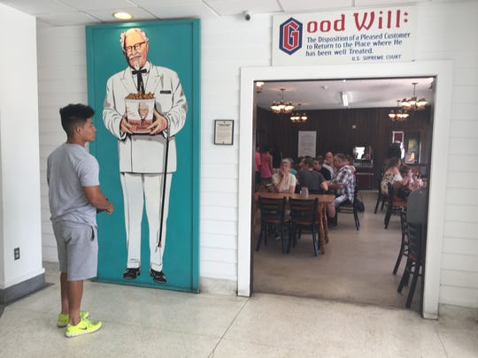The dining room at the KFC museum and restaurant in