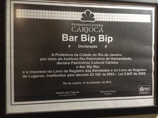 Bar Bip Bip in Brazil, which features live popular