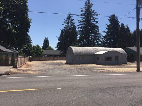 This 18,000 square-foot lot on E. Santiam St., Stayton, was once used as a truck shop. It is surrounded by single-family homes. The owner wants to change zoning from low to medium density and eventually construct a triplex on the lot.