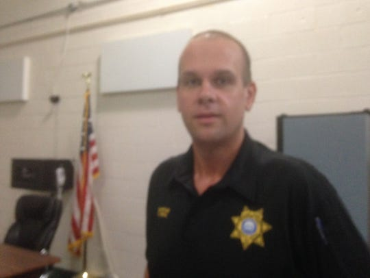 Rutherford County Sheriff Capt. Chris Deal stands in