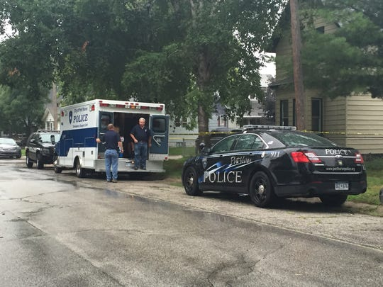 Police are at the scene of a homicide in Port Huron Saturday.