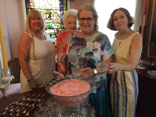 Emilane J. Watson, Virginia Joyner, Ginellen J. Hunter, Elenrae Joyner at engagement party.