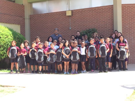 Students at V.H. Lassen Elementary School pose for
