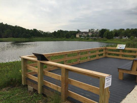 The New Celery Bog Nature Center Overlook Deck provides