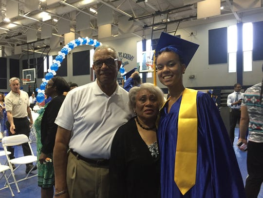 Imani Johnson-Batipps and her family at the Edison