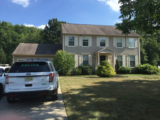 The Pennfield Drive home in West Deptford where Edward M. Coles Jr. and his wife, Rosemarie, were found dead.