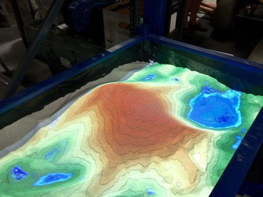 A virtual sandbox, created with off-the-shelf technology, lets people see and  touch have coastal changes impact the landscape.