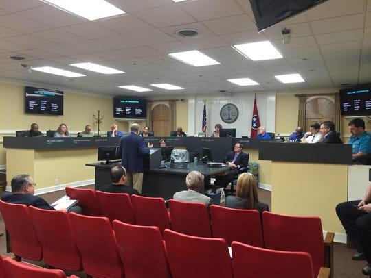 The city council executive session on Thursday, Aug.