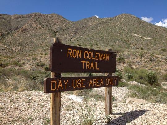 Ron Coleman Trail in McKelligon Canyon.
