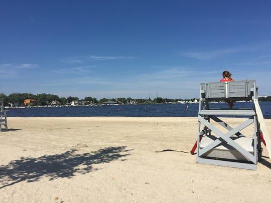 The public beach in Beachwood in 2016