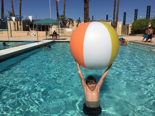 Jacob Prez enjoys the Fourth of July at the Palm Springs