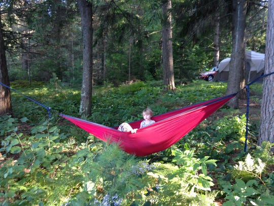 Double hammocks have enough material to hold two people