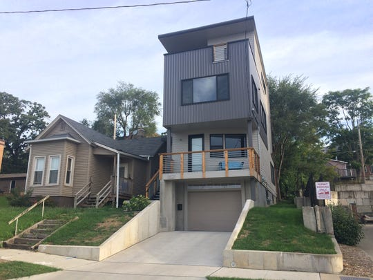 This home in Sherman Hill stands as one of the only examples in Des Moines of a modern home squeezed into a narrow, urban lot.