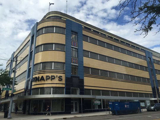 The Knapp's Centre in downtown Lansing is one Eyde Co's marquee projects. Company co-founder George Eyde died Saturday at age 82.
