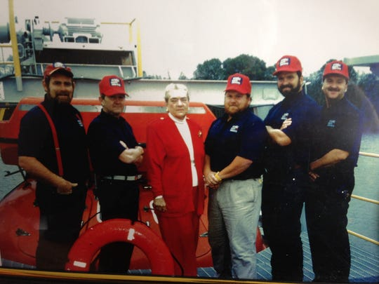 The original crew of the Marine Survival Training Center are, from left, Terry Crownover, Lou Whalen, Margaret McMillan Haas McMillan,  John McMillan and Wikoff McMillan.