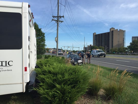 A single-vehicle crash knocked out power for some in