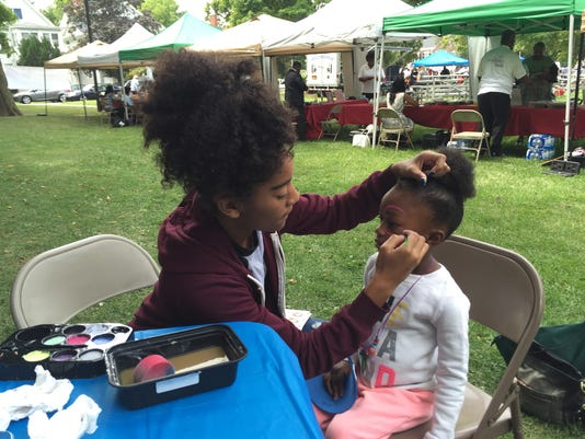 Face-painting at the Church Picnic Dedicated to God